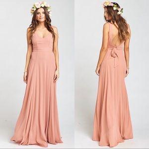Show Me Your Mumu Jenn Maxi Dress pink/mauve L